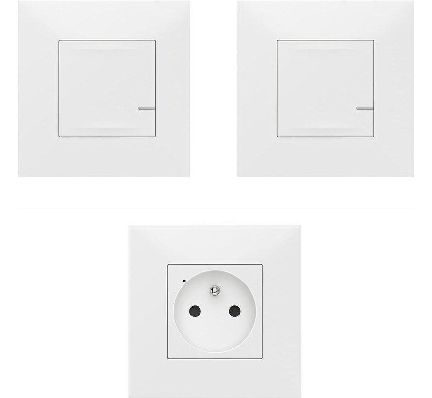 Legrand Valena NWN - Uitbreidingskit Schakelaar + stopcontact Wit