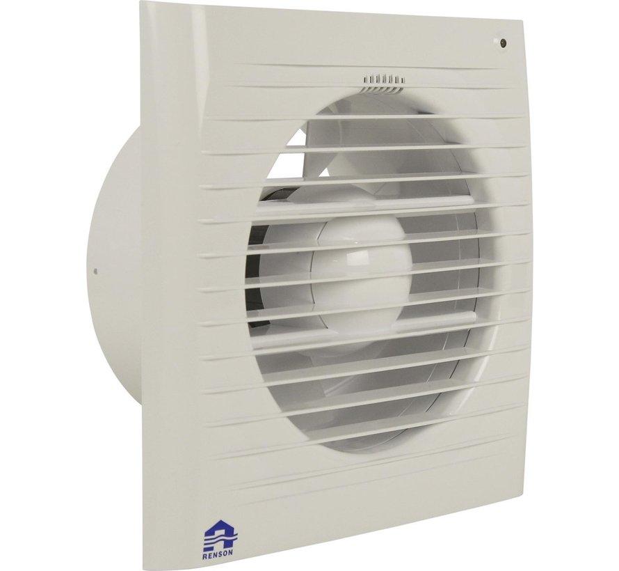 Renson mechanische ventilator met timer & lichtsensor 7502LE Ø125 mm wit
