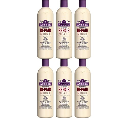 Aussie Aussie repair miracle revitaliserende shampoo XL 500ml (6 stuks verpakking)