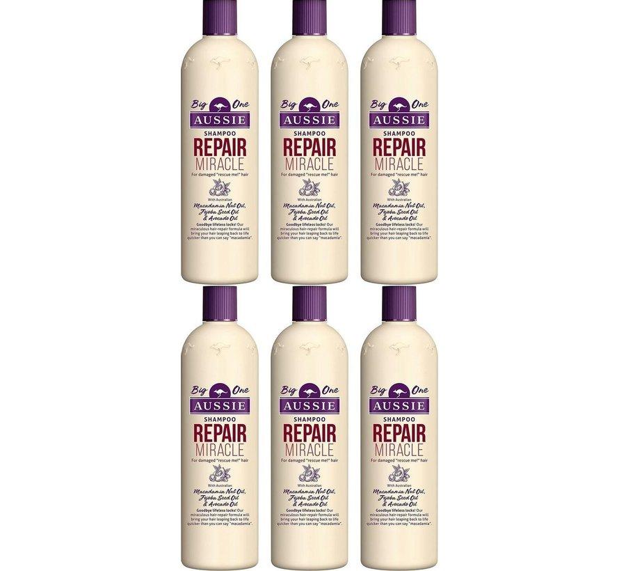 Aussie repair miracle revitaliserende shampoo XL 500ml (6 stuks verpakking)