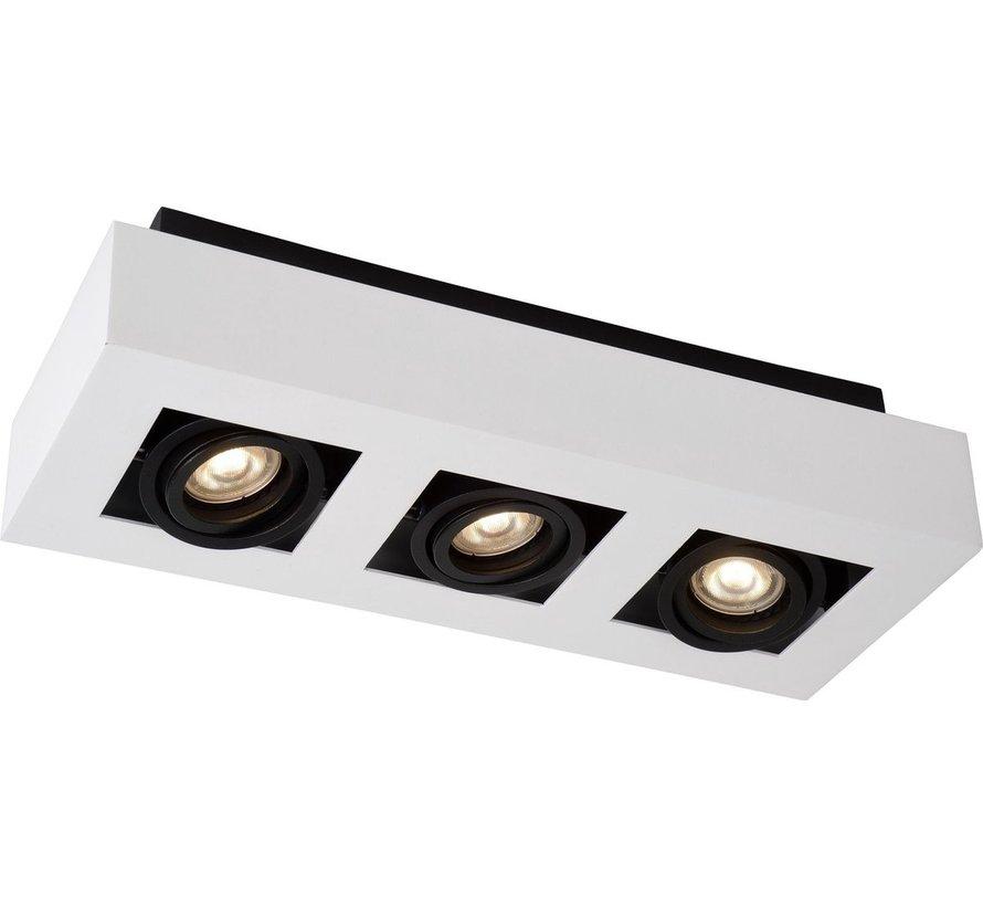 Lucide XIRAX Plafondspot - LED Dim to warm - GU10 - 3x5W 3000K/2200K - Wit