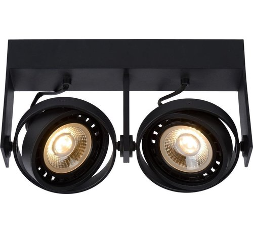 Lucide Lucide GRIFFON - Plafondspot - LED Dim to warm - GU10 - 2x12W 2200K/3000K - Zwart