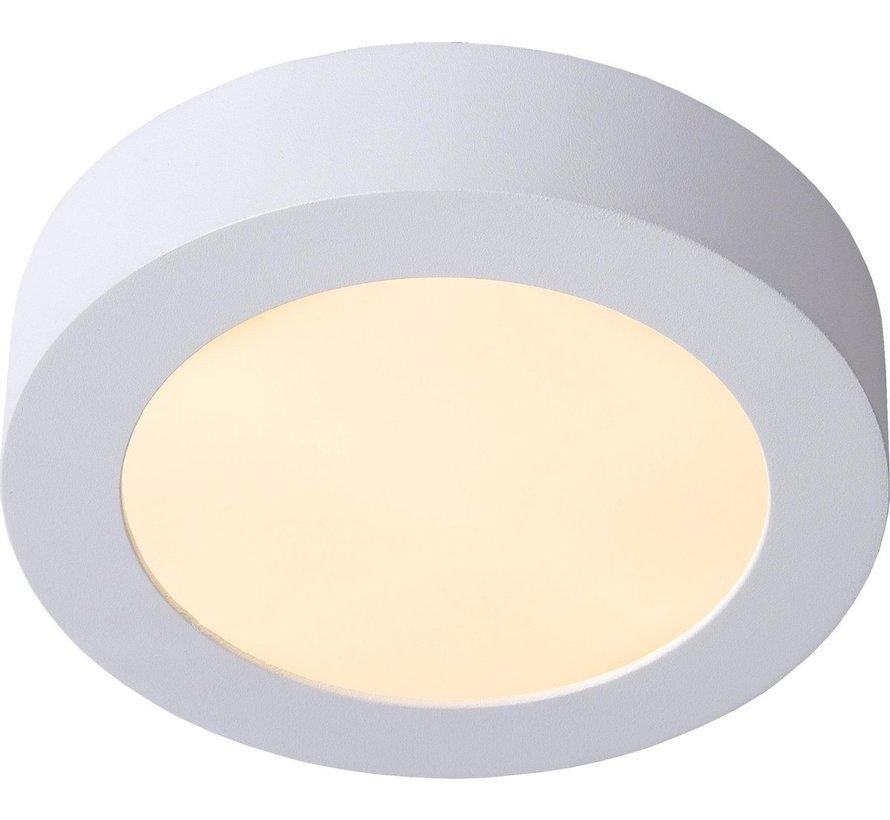 Lucide BRICE-LED Plafonnière Badkamer - Ø 18 cm - LED Dimb. - 1x11W 3000K - IP44 - Wit