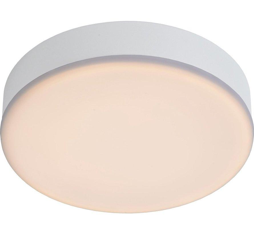 Lucide CERES-LED - Plafonnière Badkamer - Ø 21,5 cm - LED Dimb. - 1x30W 3000K - IP44 - Wit
