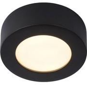 Lucide Lucide BRICE-LED Plafonnière Badkamer - Ø 11,7 cm - LED Dimb. - 1x8W 3000K - IP44 - Zwart