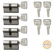 Nemef Nemef veiligheidscilinder 132/9P - Met 8 sleutels - 4 cilinders in verpakking