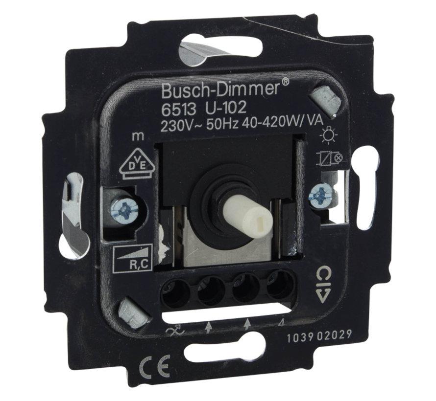 Busch-Jaeger Dimmer Inbouw 40- 420W Tronic Druk-Wissel Element