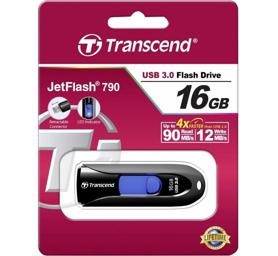 Transcend Jetflash 790 16GB USB3.0 Zwart