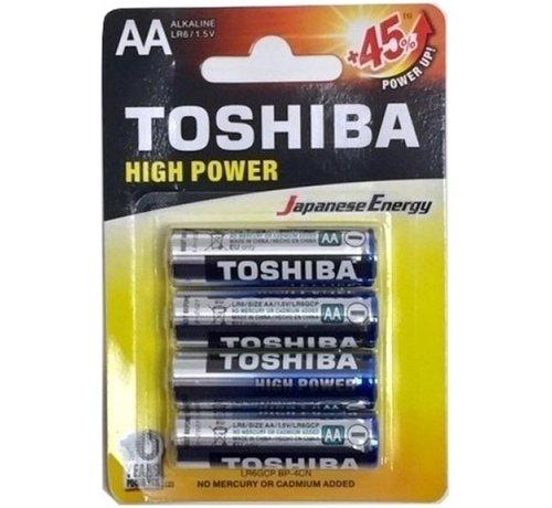 Toshiba Toshiba LR6GCP BP-4CN High Power Wegwerpbatterij AA Alkaline 48 stuks (verpakking 12 x 4 stuks)