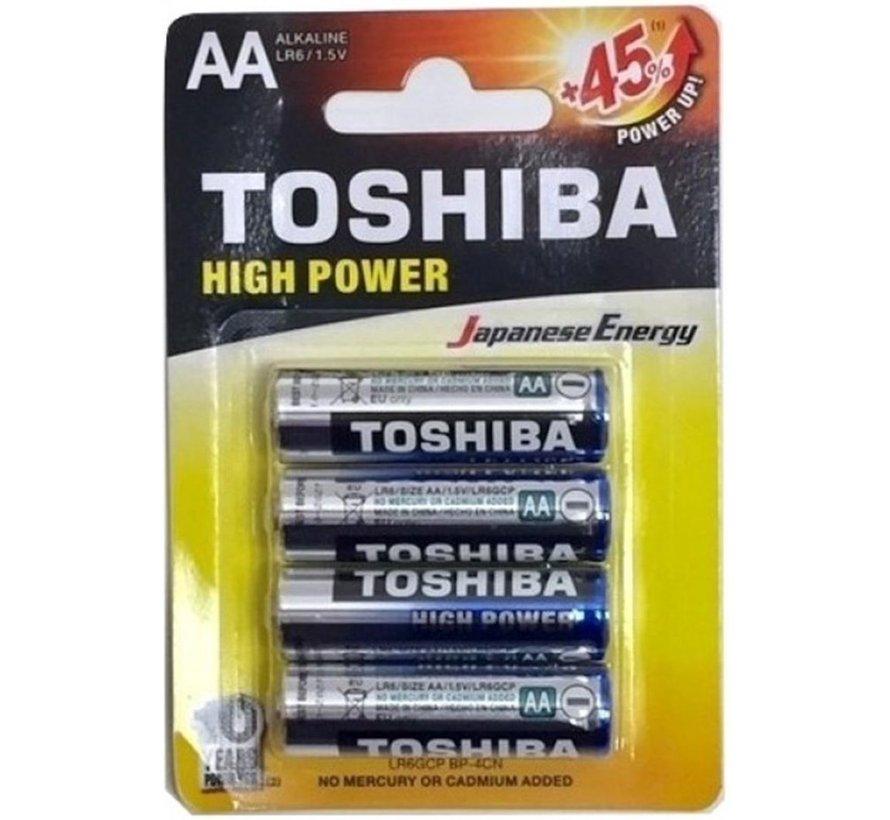 Toshiba LR6GCP BP-4CN High Power Wegwerpbatterij AA Alkaline 48 stuks (verpakking 12 x 4 stuks)