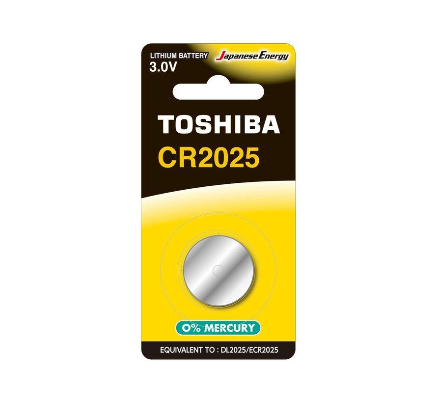 Toshiba CR2025 BP-1C 3v lithium knoopcel batterij 10 stuks (10x blister 1 stuks)