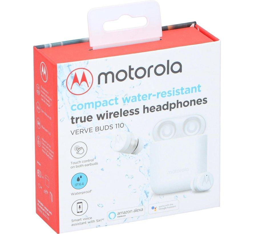 Motorola VerveBuds 110 oordopjes - Waterbestendig - Draadloos - Wit