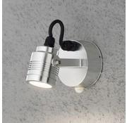 Konstsmide Konstsmide Monza LED 3x1W - Wandspot zwenkbaar 14cm bwm - 230V - 3000K - zilver
