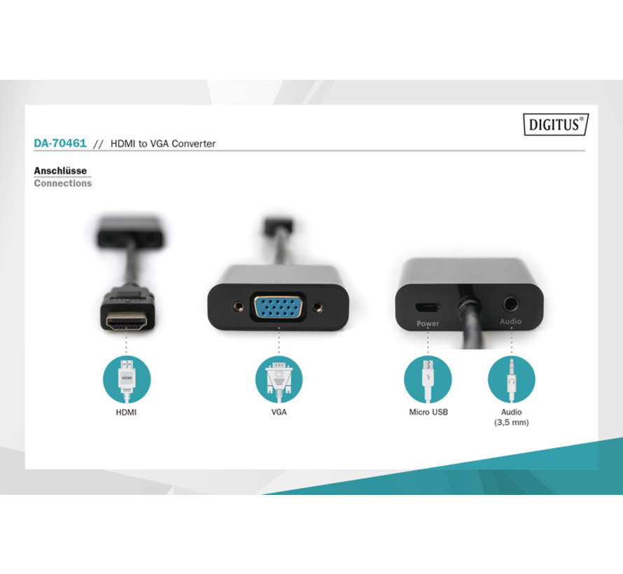 Digitus HDMI naar vga converter