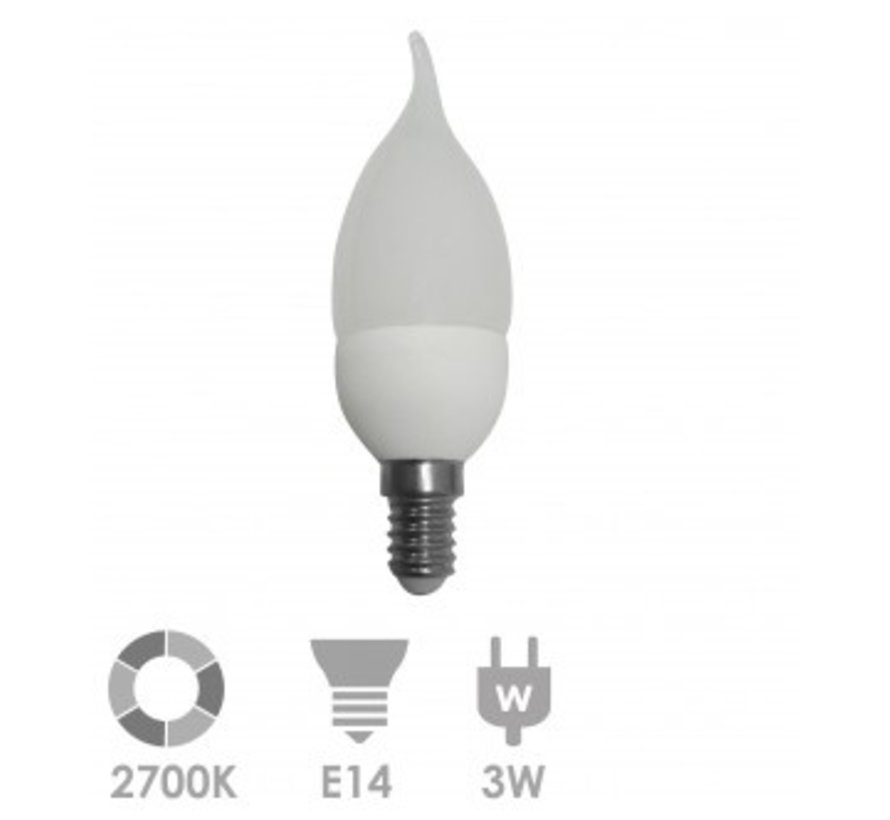 Prolumia KAARS TIP LED-lamp E14 Kaars 2700K 40931400 10 stuks verpakking