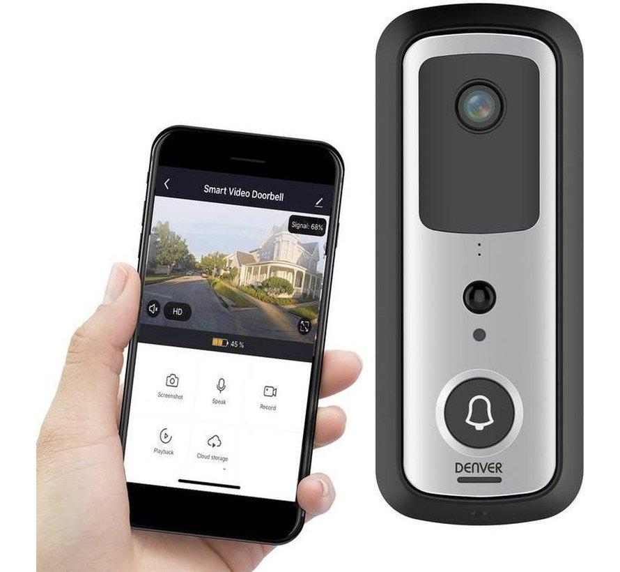 Denver SHV-120 IP Smart Tuya Deurbel met camera intercom Wifi draadloos incl Dongle