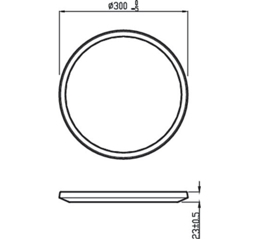 Philips - Super Slim Wand/plafondlamp Led 1x18w/1700lm 4000k Wit