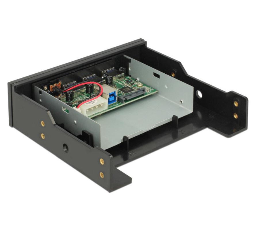 DeLOCK Frontpanel 3.5 / 5.25 USB 3.0 Hub 4 Port
