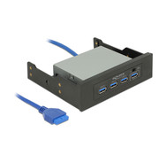 Delock DeLOCK Frontpanel 3.5 / 5.25 USB 3.0 Hub 4 Port