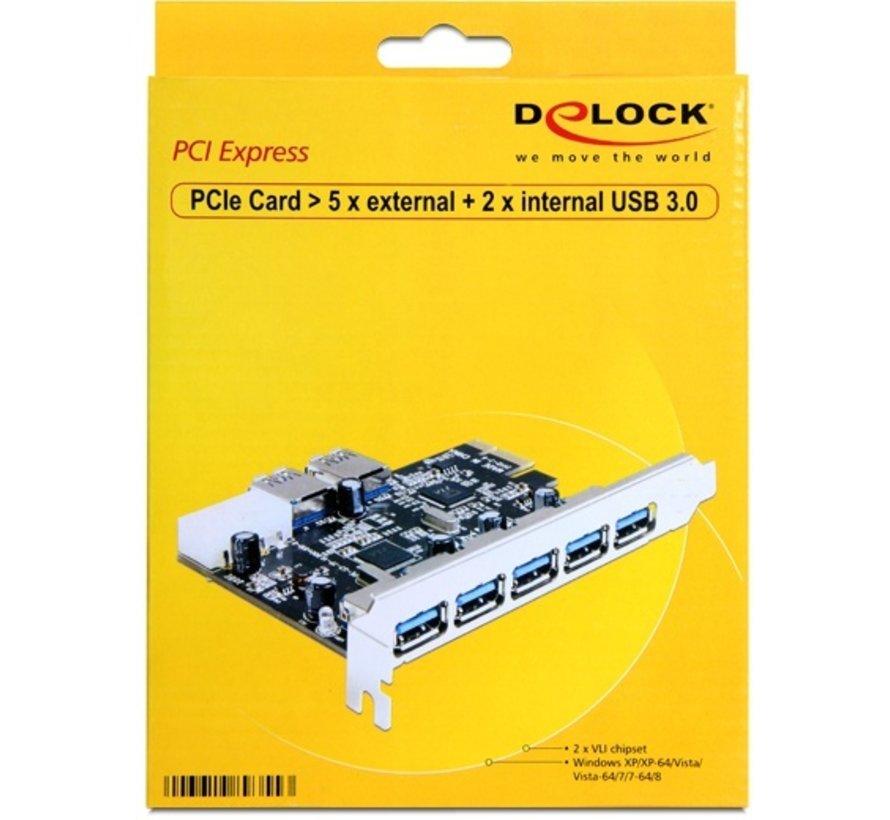 Delock - PCI Express Kaart - 5 x extern + 2 x intern USB 3.0
