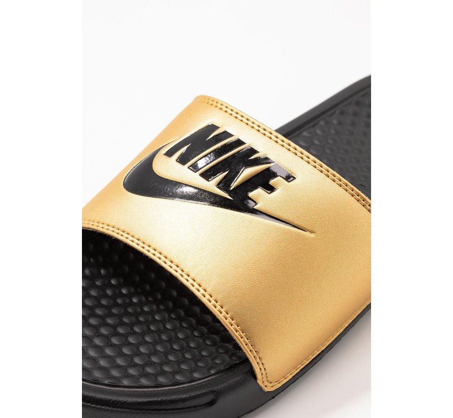 Nike Women's Benassi Just do It Zwart/Goud