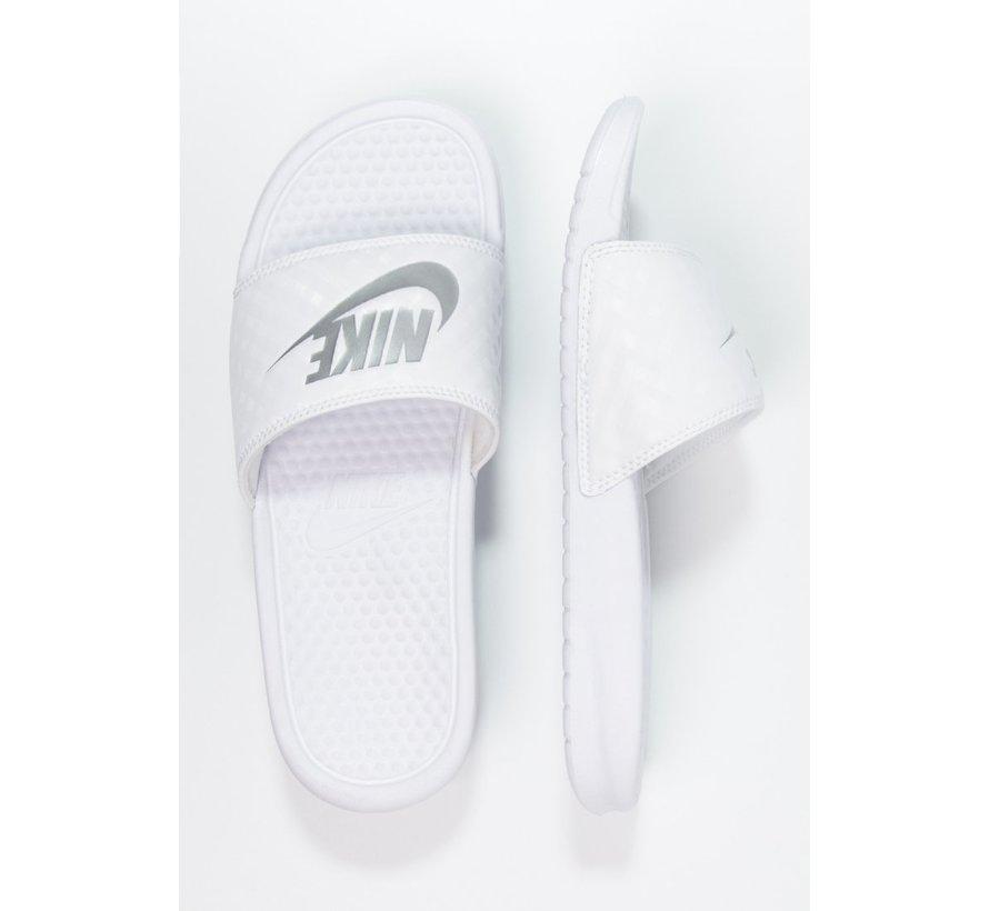 Nike Women's Benassi Just do It Wit/Zilver