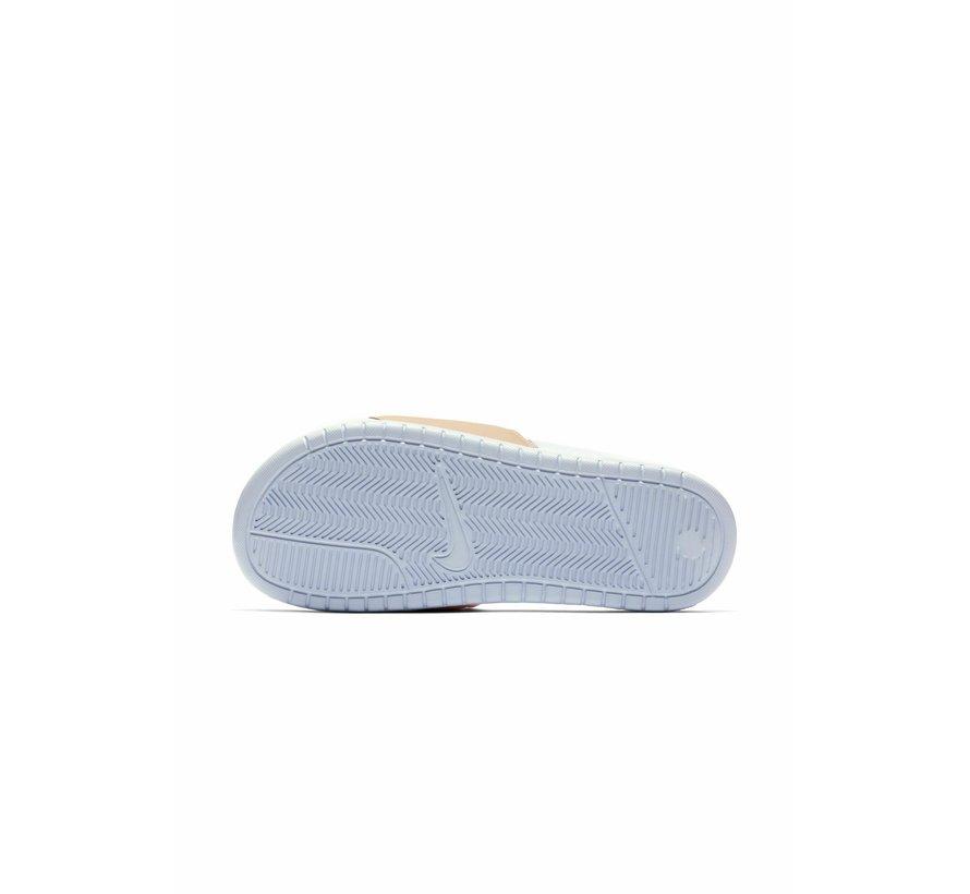 Nike Women's Benassi Just do It Wit/Roze Hydrogen Blue