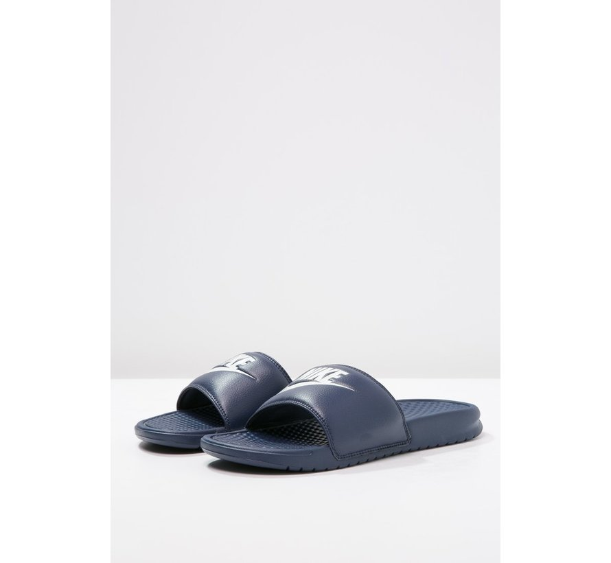 Nike Unisex Benassi Just do It Blauw/Wit