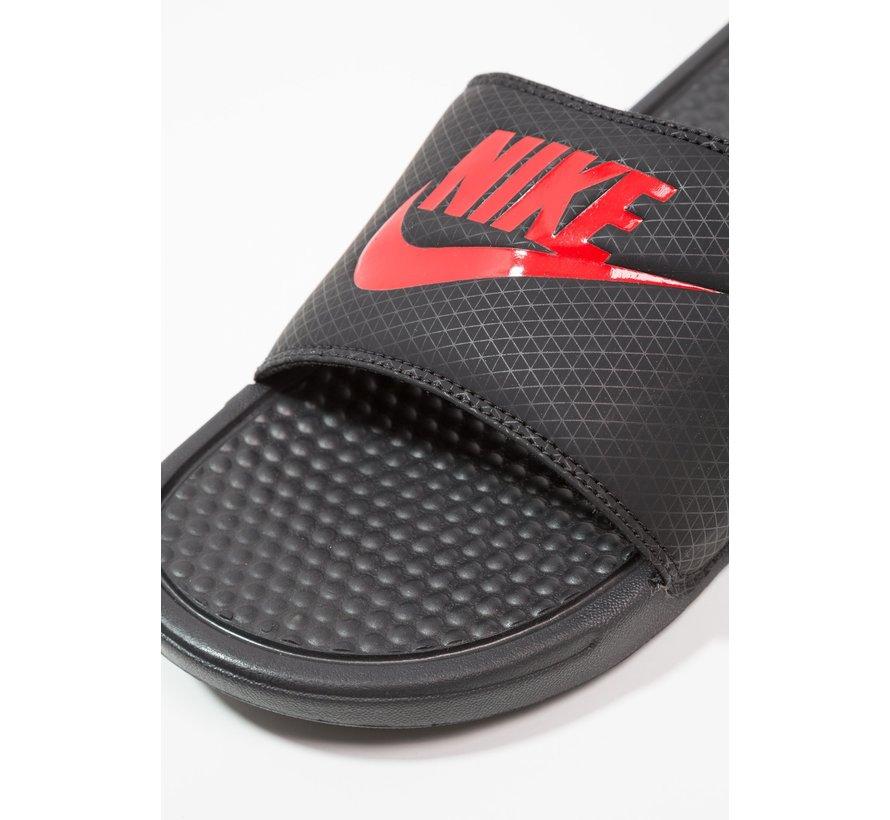 Nike Men's Benassi Just do It Zwart/Rood