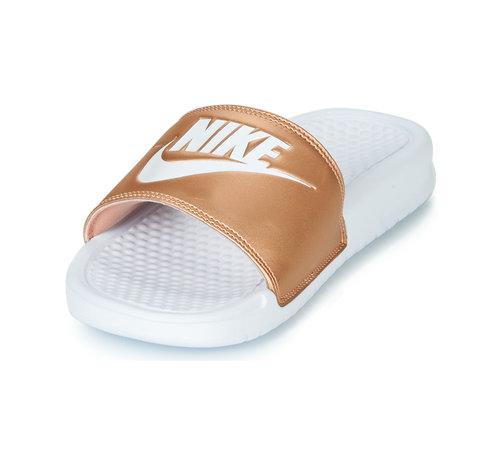 Nike  Nike Women's Benassi Just do It Wit/Brons