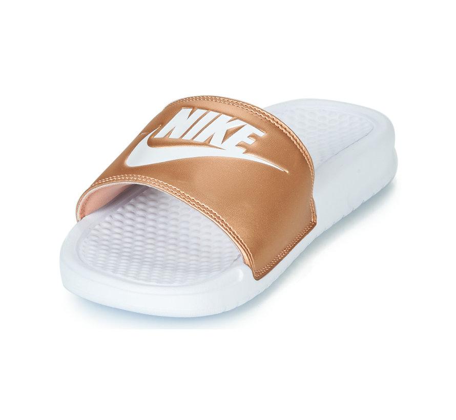 Nike Women's Benassi Just do It Wit/Brons