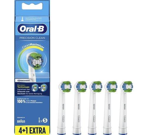 Oral B Oral-B Precision Clean Improved Opzetborstel Met CleanMaximiser-technologie, Verpakking Van 5 Stuks
