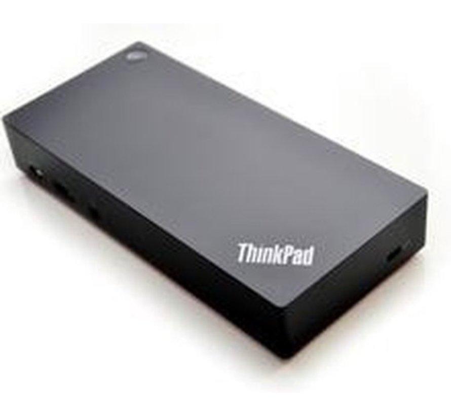 Lenovo 40AS0090EU notebook dock & poortreplicator Bedraad USB 3.0 (3.1 Gen 1) Type-C Zwart