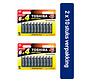 Toshiba LR6GCP BP10MS4FCN High Power Wegwerpbatterij AA Alkaline 20 stuks (verpakking 2 x 10 stuks)