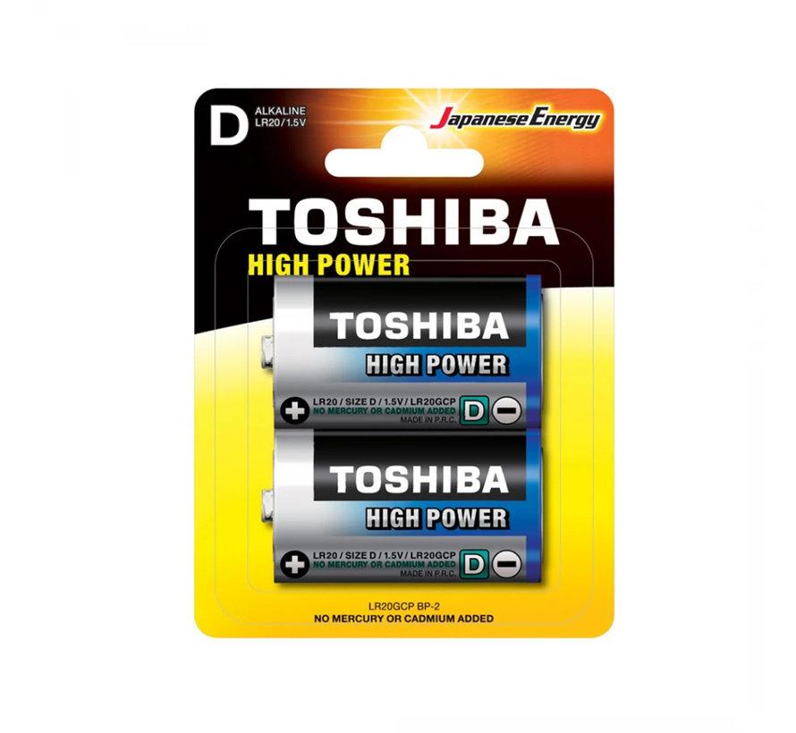 20 Stuks Toshiba LR20GCP BP-2CN D Type Wegwerpbatterij EAN 4904530592706