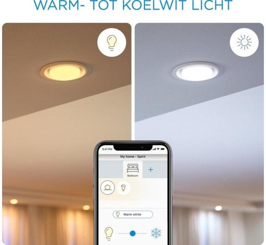 WiZ LED Lamp Slimme LED Verlichting - Gekleurd en Wit Licht - E27 - 60W - Mat - Wi-Fi - 2 stuks