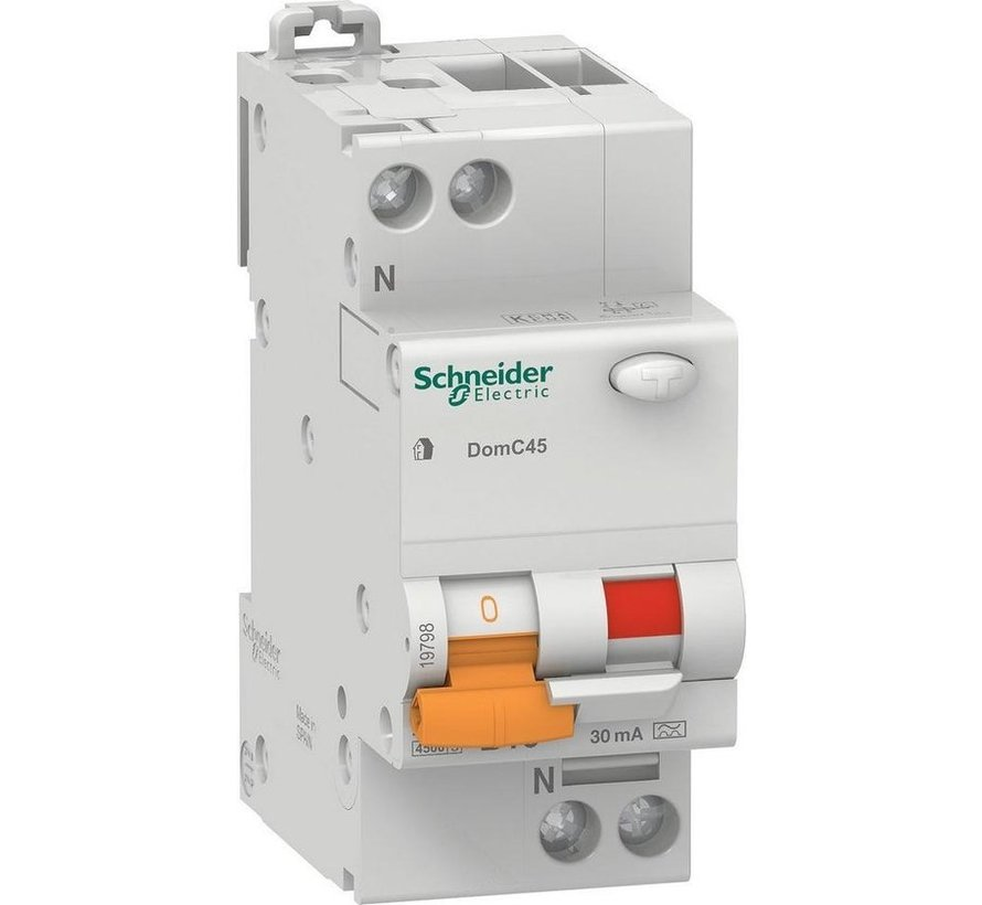 Schneider Electric Domae aardlekautomaat 2p B 16A 30MA