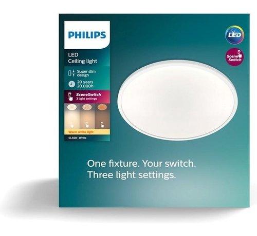 Philips Philips Super Slim plafonnière - wit - warmwit licht - 18W