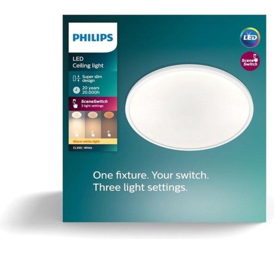 Philips Super Slim plafonnière - wit - warmwit licht - 18W
