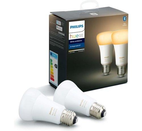 Philips Philips Hue Slimme verlichting Lichtbron - White Ambiance - E27 - Bluetooth - 2 Stuks