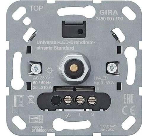 Gira Gira Dimmer Inbouw LED 3-60 met 20-210 druk uit element