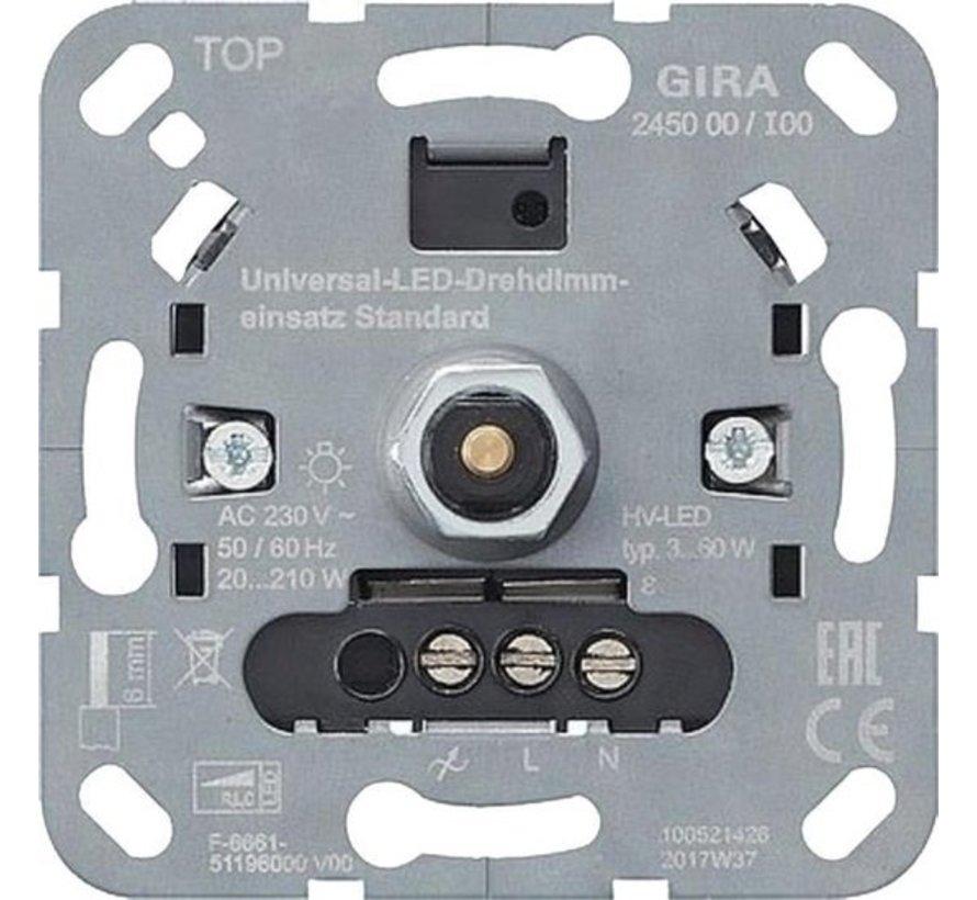 Gira Dimmer Inbouw LED 3-60 met 20-210 druk uit element