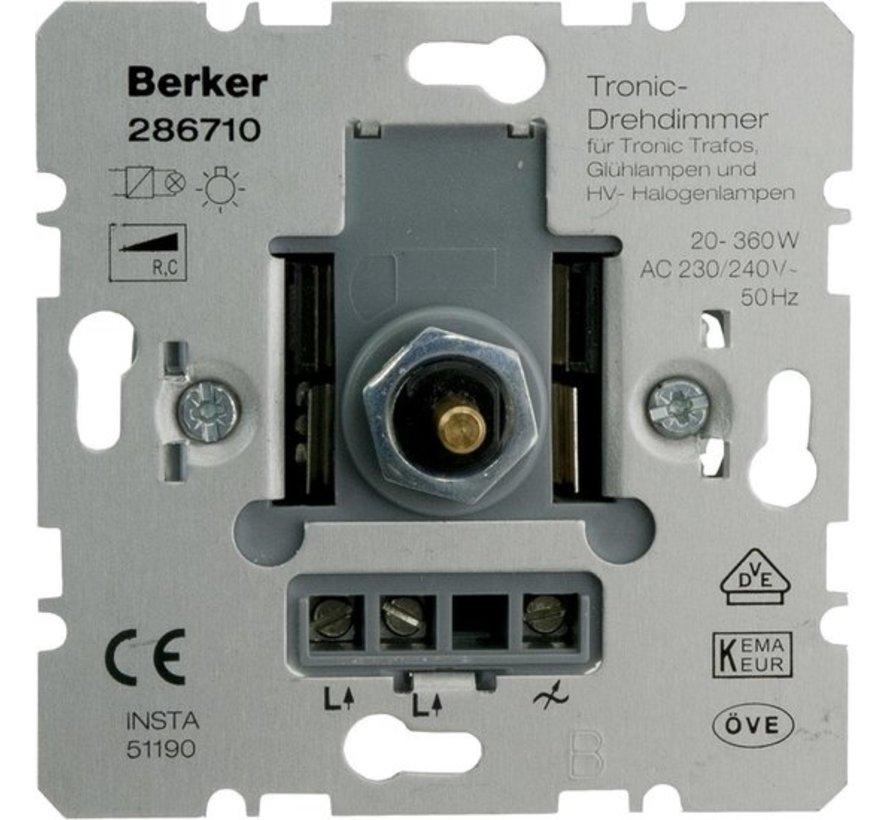 Berker Dimmer Inbouw 360W Tronic Druk-Wissel Element