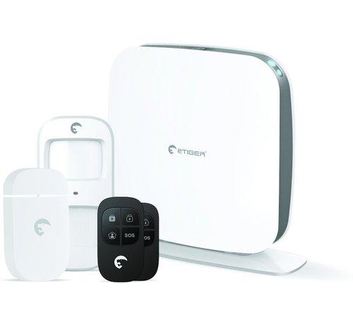 eTiger Etiger draadloos WiFi alarmsysteem Secual Box met GSM communicatie via app voor iOS en Android en optionele SIM kaart