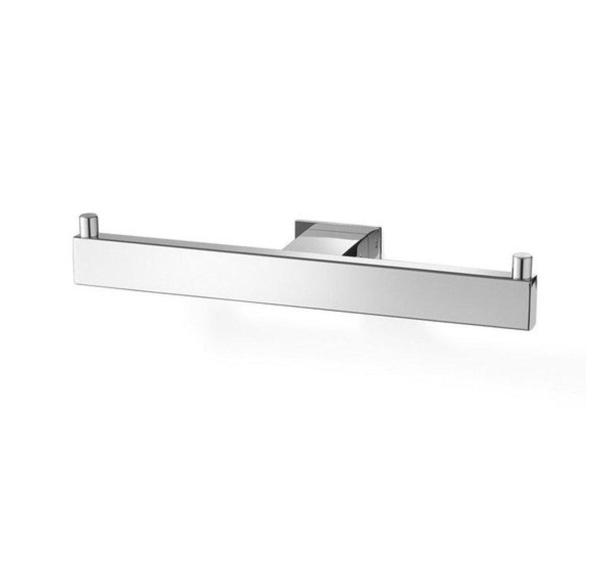 ZACK Linea - Dubbele toiletrolhouder - Wcrolhouder tandem - RVS / Roestvrij Staal