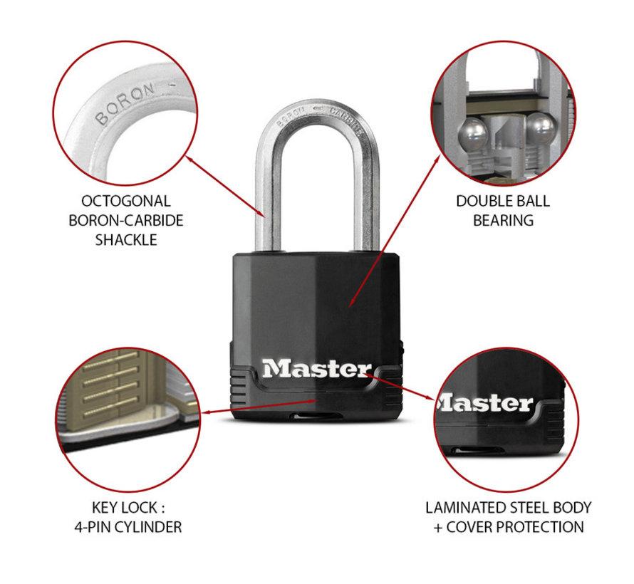 MasterLock Set van 2 weersbestendige hangsloten Key Alike M115EURTLF