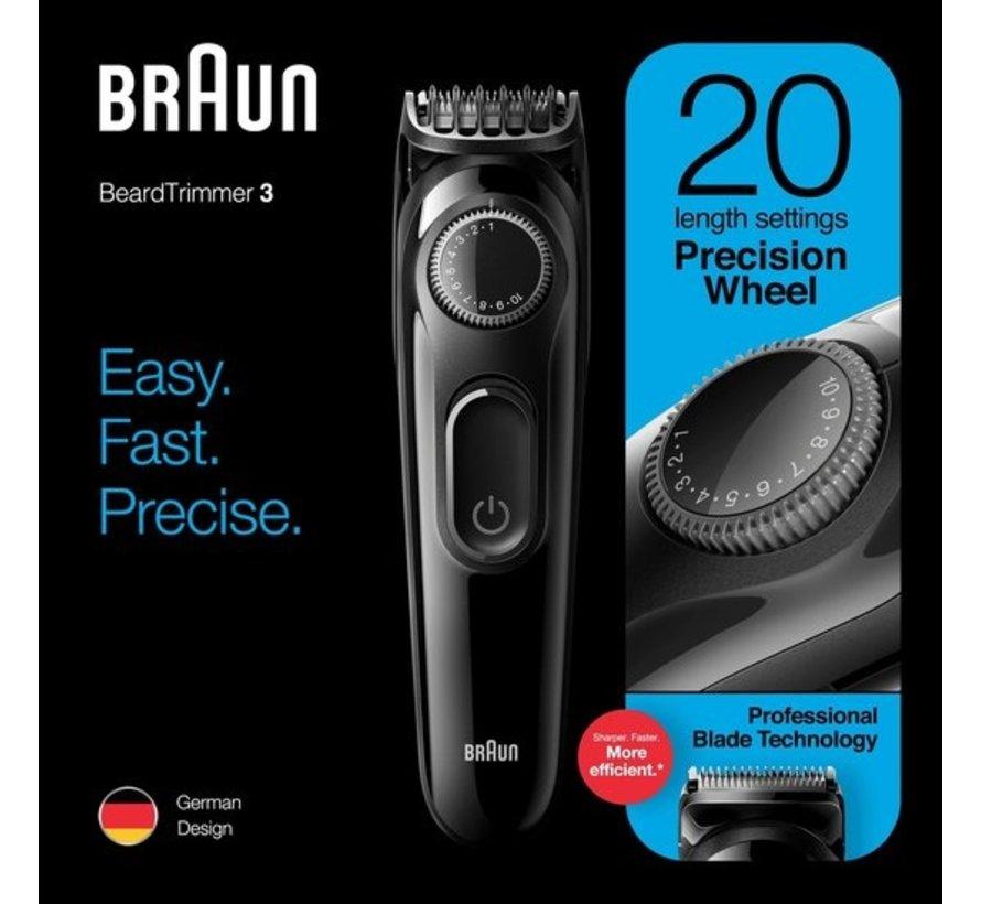 Braun BT3222 , Trimmer En Haartrimmer Voor Mannen, 20 Lengte-instellingen, Zwart
