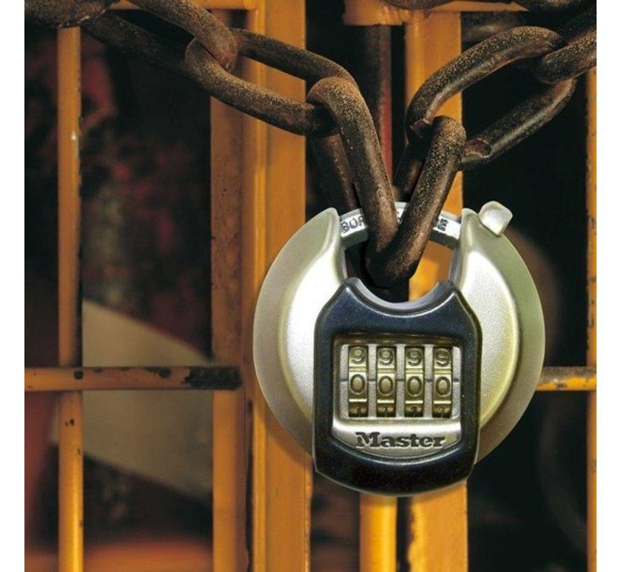 MasterLock hangslot met cijfer combinatie roestvrij staal grijs 70 mm