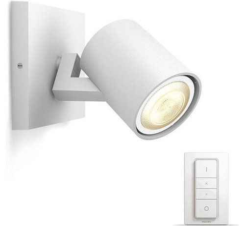 Philips Philips Hue - Runner Hue enkelvoudige spot wit 1x5.5W 230V - White Ambiance Bluetooth inclusief dimmer