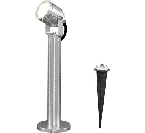 Konstsmide Konstsmide - Monza LED 3x1W 1-lichts 35cm 230V + stekker 3000K - zilver